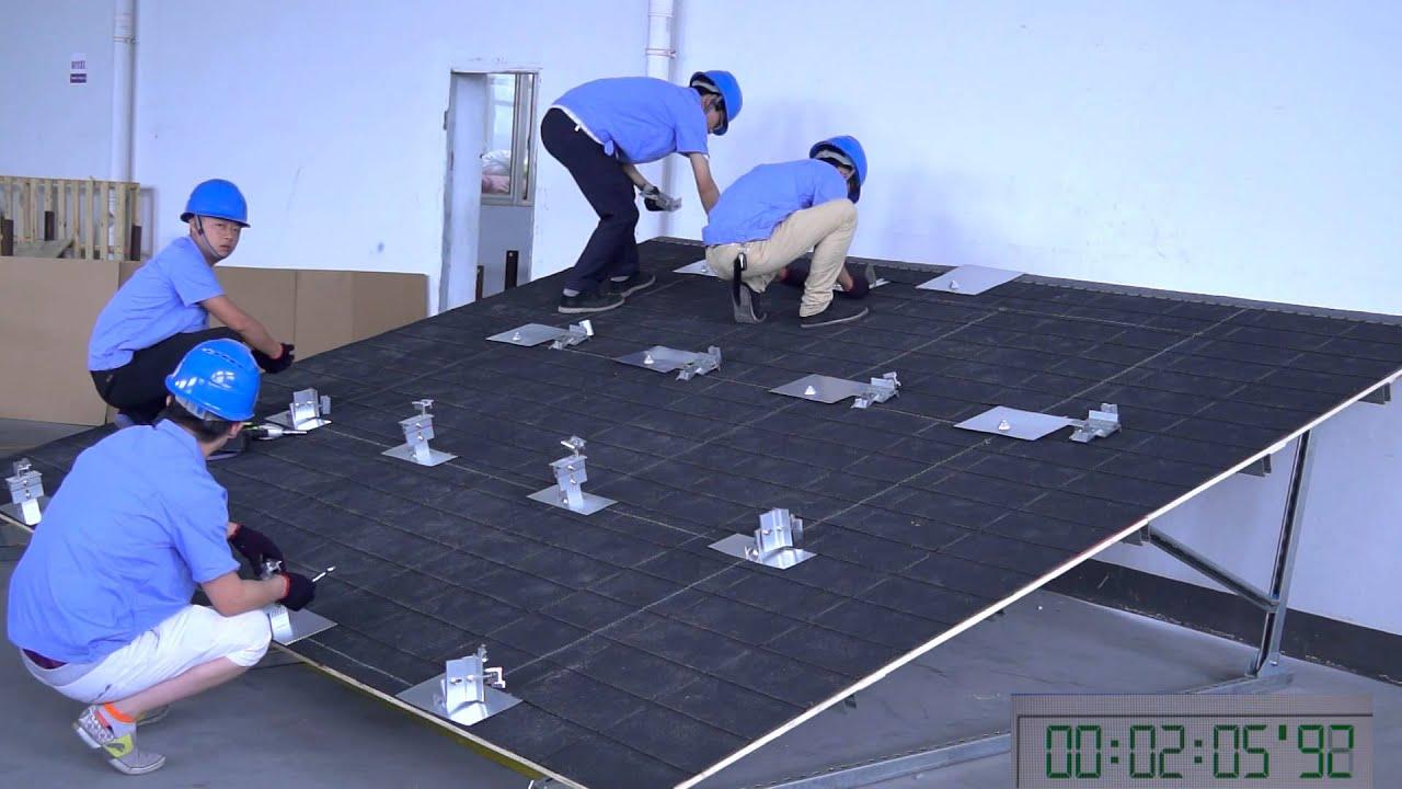 Cy Zj10 Rail Less Shingle Roof Mounting Racking System