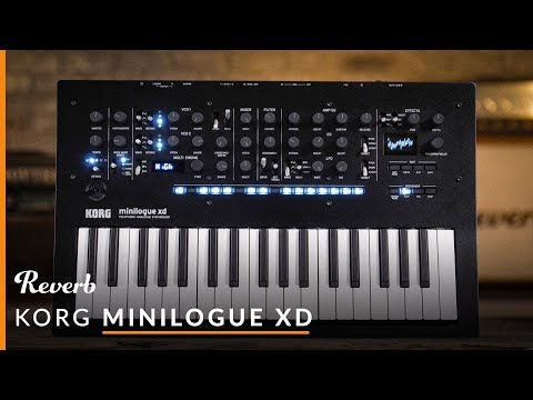 Korg Minilogue XD Polyphonic Analogue Synthesizer   Reverb Demo Video