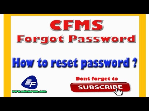 CFMS - How to get password by forgot password option   - YouTube a16a7d3d0b9b