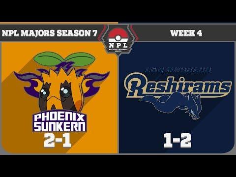 National Pokeball League S7W4: Phoenix Sunkern vs Los Angeles Reshirams (1-2)