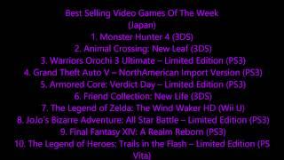 Best Selling Video Games Of The Week Japan