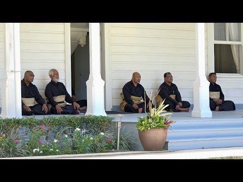 His Majesty King Tupou VI, Lavaka Estates of Pea, Lomaiviti & Kahoua presentation to the Palace