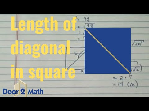 How To Find Length Of A Diagonal Of A Square Youtube