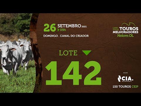LOTE 142 - LEILÃO VIRTUAL DE TOUROS 2021 NELORE OL - CEIP