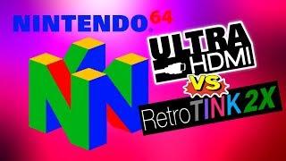 N64 UltraHDMI vs. RetroTINK 2X