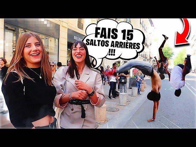 FAIS 15 SALTO ARRIÈRE ET REMPORTE 5 EUROS !