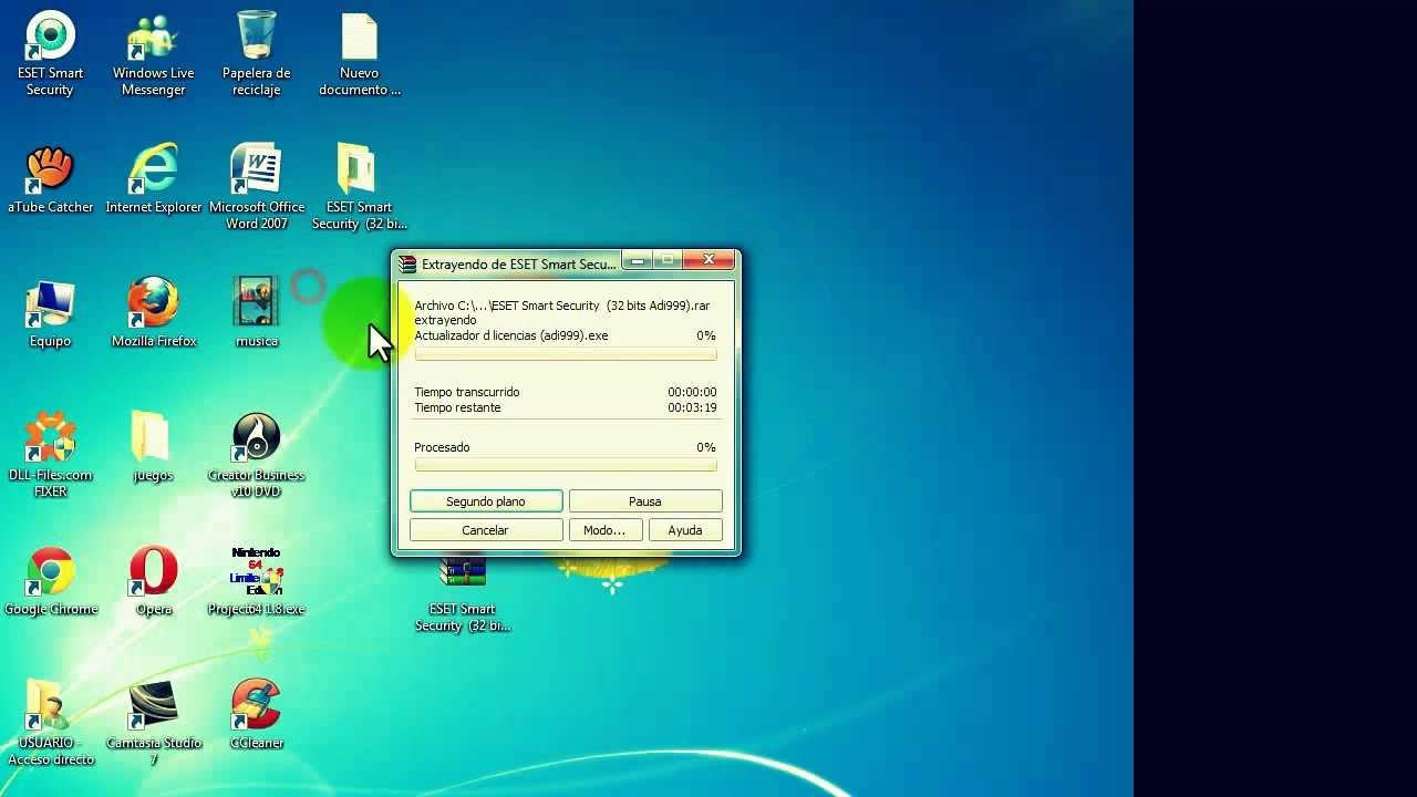 Como Descargar Eset Smart Security 5 De 64 O 32 Bits En