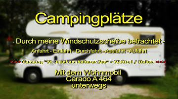 """Camping St. Josef am Kalterer See"" in Kaltern / Südtirol / Italien"