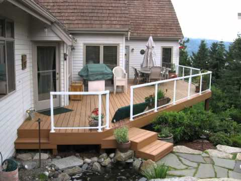 How To Build A Deck Platform On A Slope Youtube