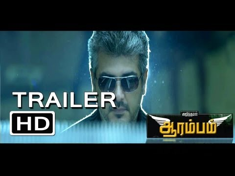 "Arrambam (2013) HD Official First Theatrical Trailer Teaser 1080p Ajith's 53rd""Aarambam"""