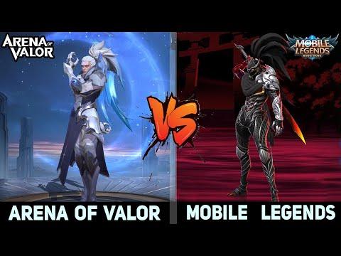 Mobile Legends VS Arena Of Valor : Graphics, Map, Heroes Skin