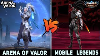 Mobile Legends VS Arena of Valor : Graphics, Map, Heroes Skin