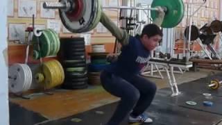 Мезенцев Алексей, 13 лет, вк 77  Рывок 70 кг Есть личный Рекорд! 1