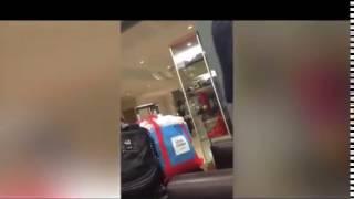 Потерянного Саакашвили в нелепой одежде сняли на видео в аэропорту Нью-Йорка