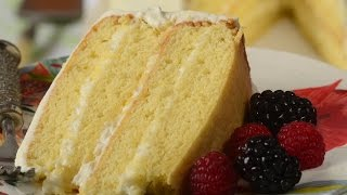 Simple Vanilla Cake Recipe Demonstration - Joyofbaking.com