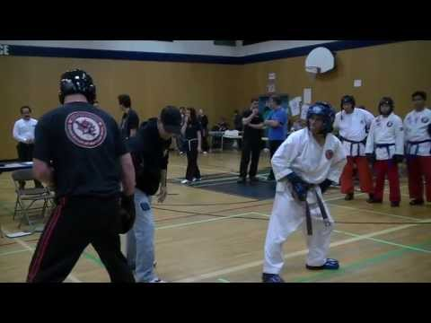 Karate Tournament Sparring - Benidict Vierra