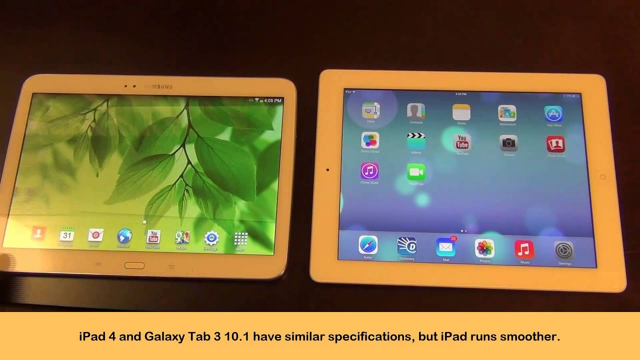 samsung galaxy tab 3 10 1 vs ipad 4 full comparison youtube. Black Bedroom Furniture Sets. Home Design Ideas