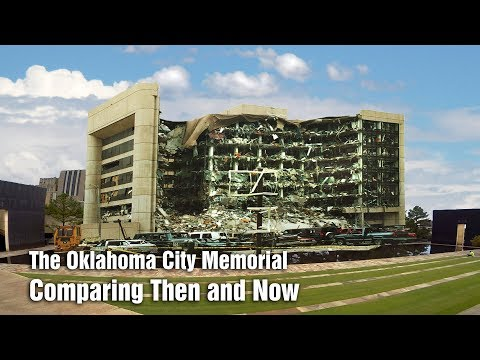 Oklahoma City Memorial, comparing then and now