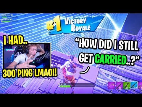 I joined OCEANIA servers and CARRIED an Austrailian kid on Fortnite... (I HAD 300 PING!)