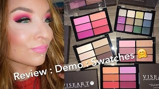 Viseart New Bijoux Royal Eyeshadow Palette & Blush Collection : Review : Demo : Swatches