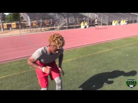 DAILY HIGHLIGHT   Elijah Blades 17 Muir High Pasadena,CA DB Workout with Coach Drew Pea
