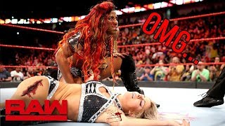WWE Alexa Bliss Vs Ember Moon:Raw,13 August:WWE Cord