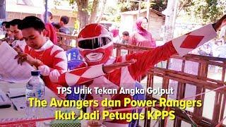 Biar Berasa Super saat Bertugas, Anggota KPPS Pakai Kostum Superhero