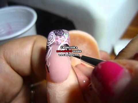Nail art micropittura youtube nail art micropittura prinsesfo Gallery