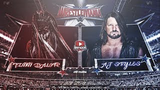Finn Balor vs AJ Styles - WWE Championship Match | Wrestlemania | Match of the Season (3)