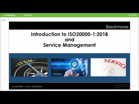 ISO 20000-1 IT Service Management webinar