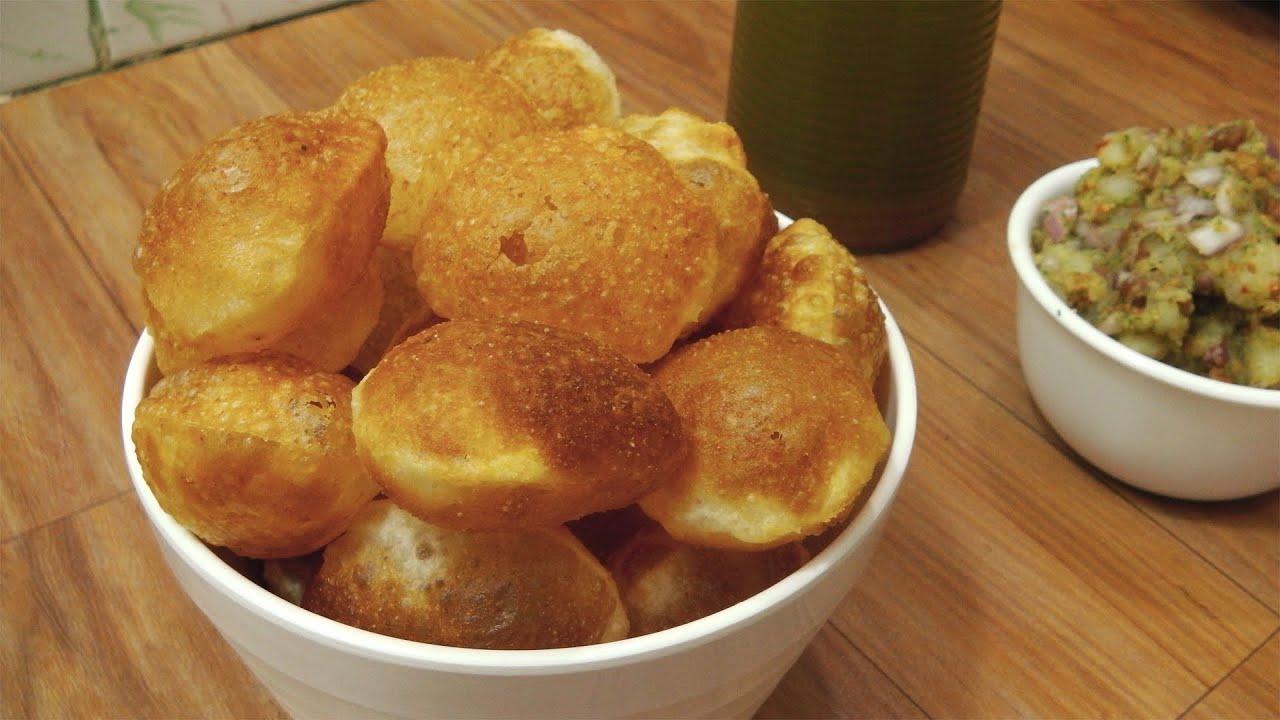Puri for pani puri recipe perfectly crisp street style indian puri for pani puri recipe perfectly crisp street style indian street food youtube forumfinder Choice Image