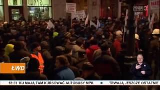 Protest pracowników Veolii