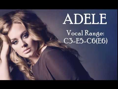 Adele Vocal Range: C3 - E5 - C6(E6)