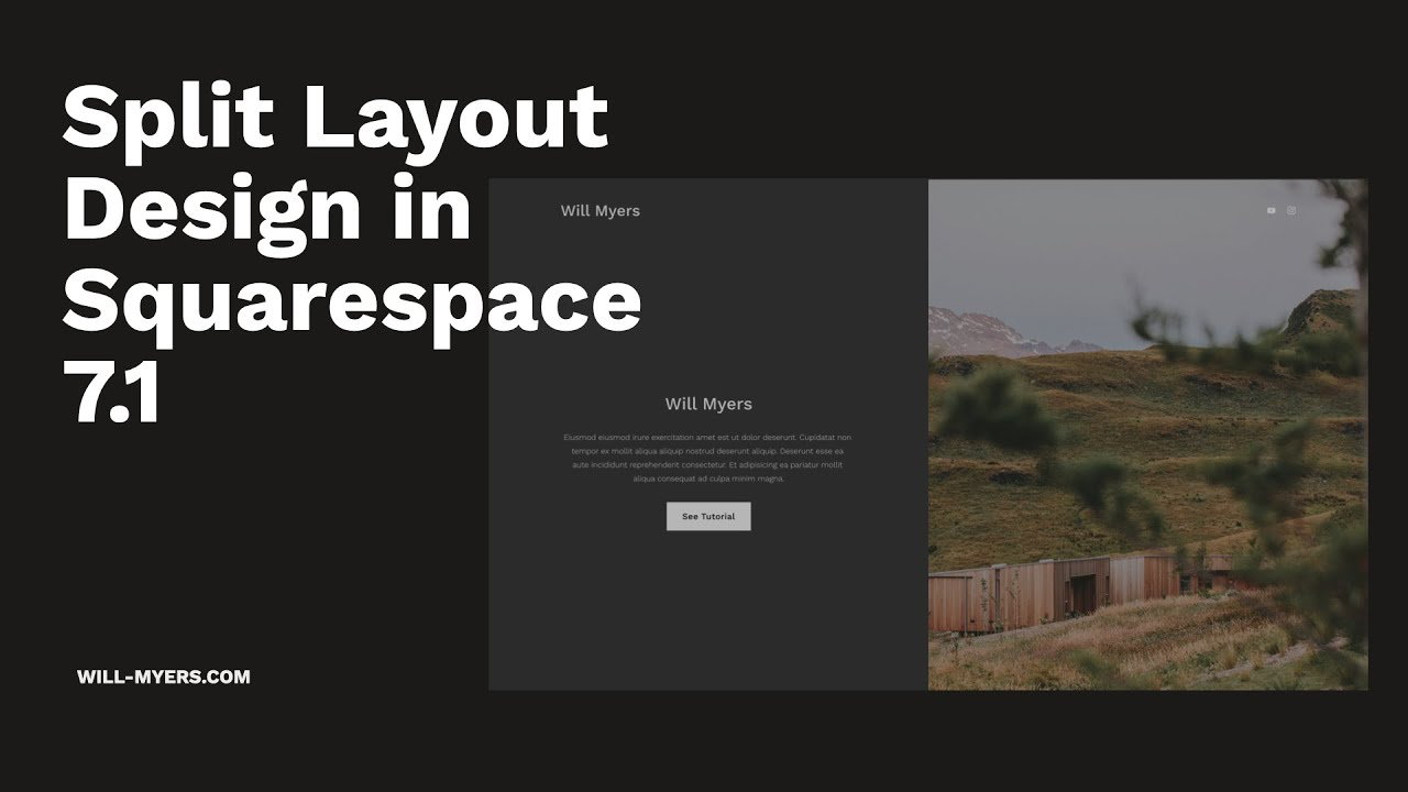 Split Screen Layout Design in Squarespace 7.1
