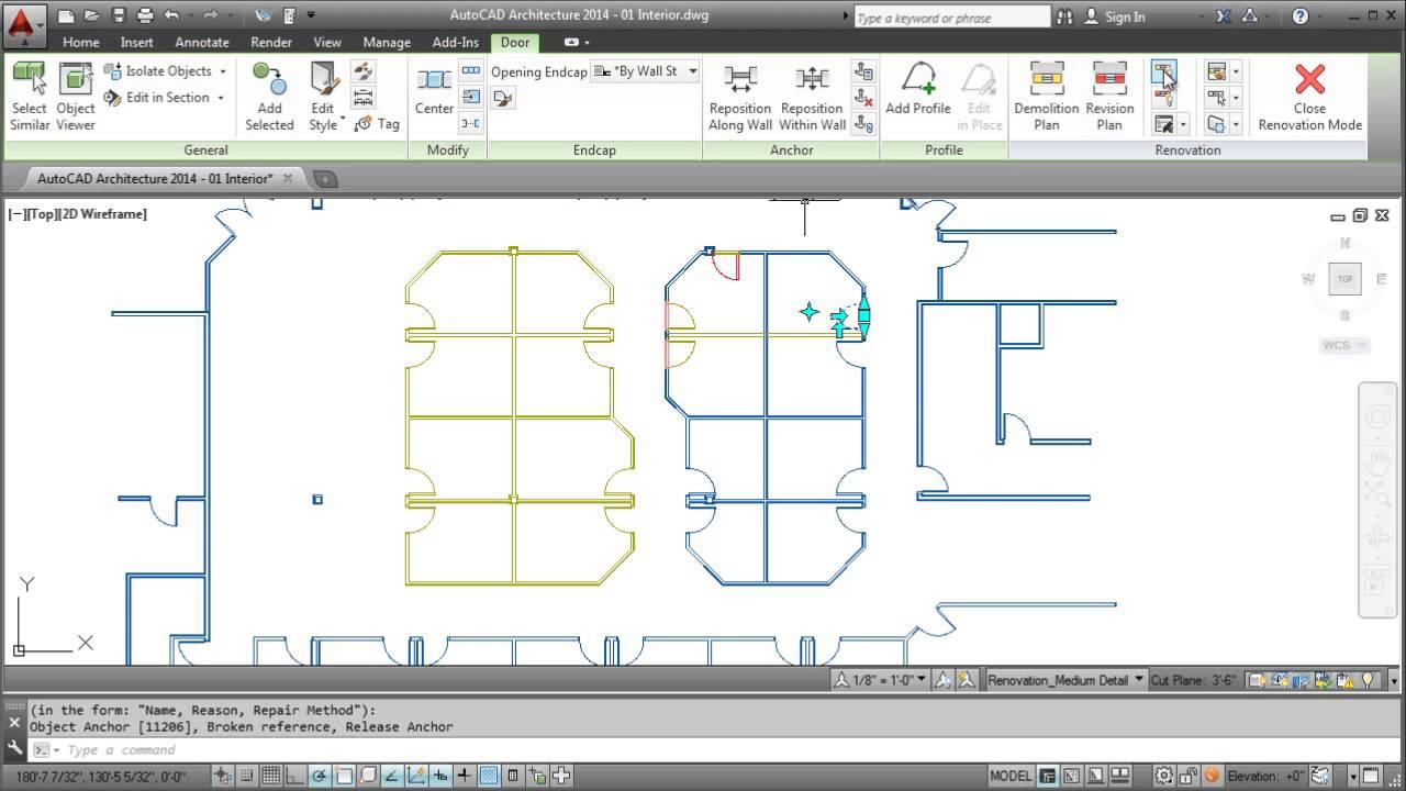 autocad architecture 2014 membuat gambar renovasi (creating