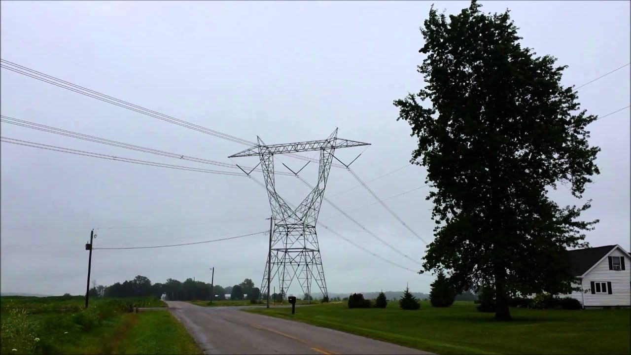 High Voltage Power Lines : High voltage kv power line noise youtube