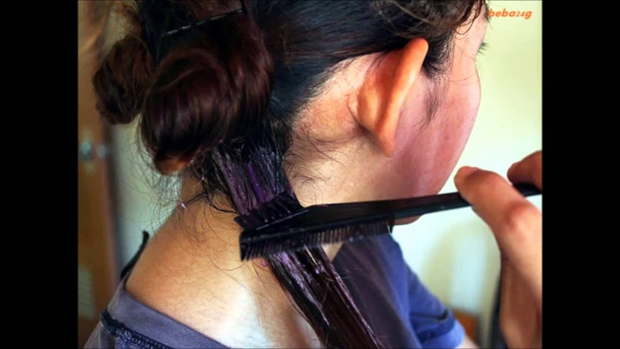 How to dye your hair at home ( Easy steps ) - YouTube