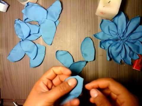 Como hacer flores de tela flores para el cabello flores - Como hacer cuadros de tela ...