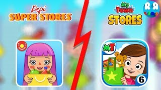 Pepi Super Stores and My Town : Stores - Best Compilation App for Kids