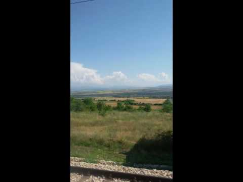 fast train Rouse- Sofia Bulgaria