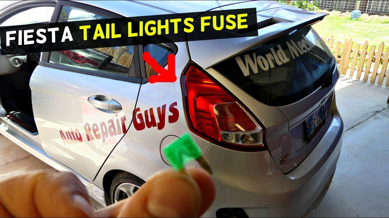 Ford Fiesta Tail Lights Fuse Location Replacement Mk7 St Youtube Box