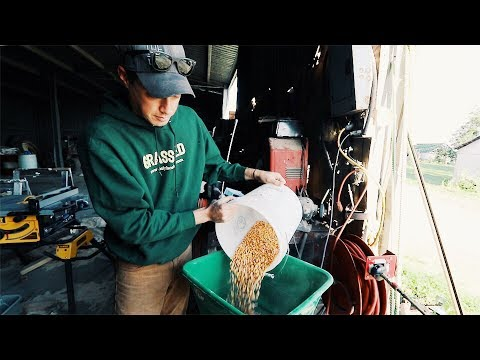 Joel Salatin Chicken Feed Mix Youtube