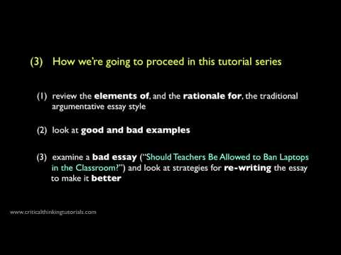How to Write a Good Argumentative Essay: Introduction - YouTube