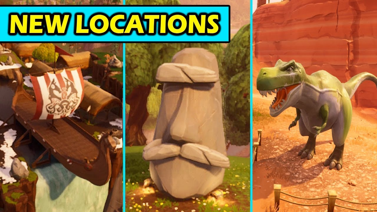 All New Map Locations Changes Season 5 Fortnite Update Changes