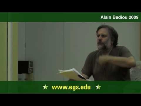 Alain Badiou. The Event as Creative Novelty 2009 7/13