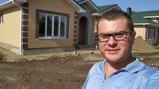 Обзор дома 120 кв.м. в коттеджном поселке  Краснодар п.Южный ч.2