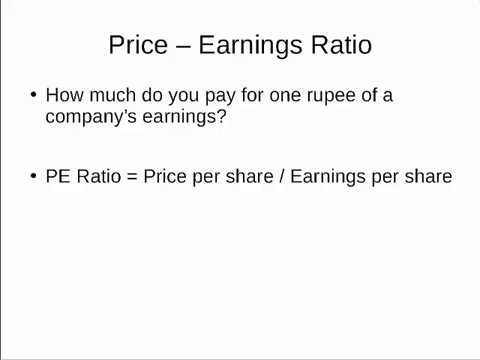 Price-Earnings Ratio (P/E Ratio) - Equitymaster com