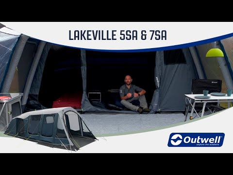 Outwell Lakeville 5SA & 7SA - Inflatable Air Tent (2020) | Innovative Family Camping
