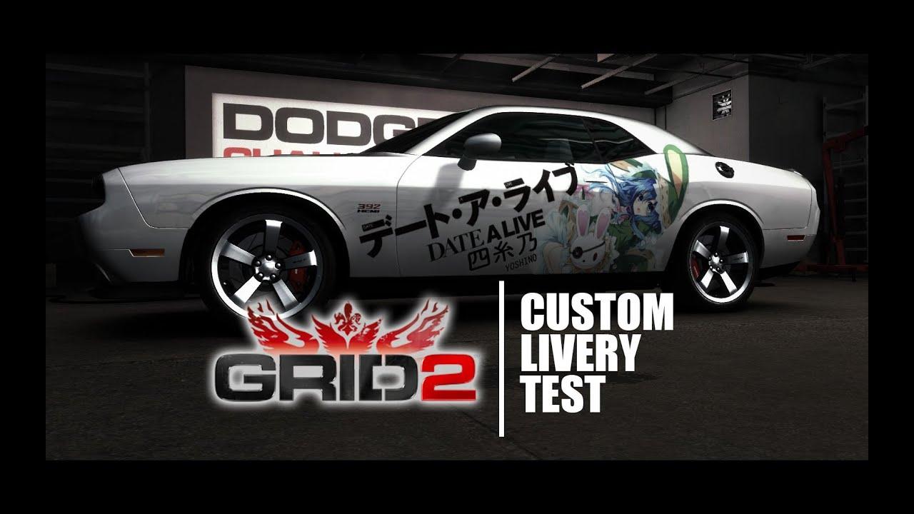 GRID 2 Custom Livery Test - DATE A LIVE Itasha - YouTube