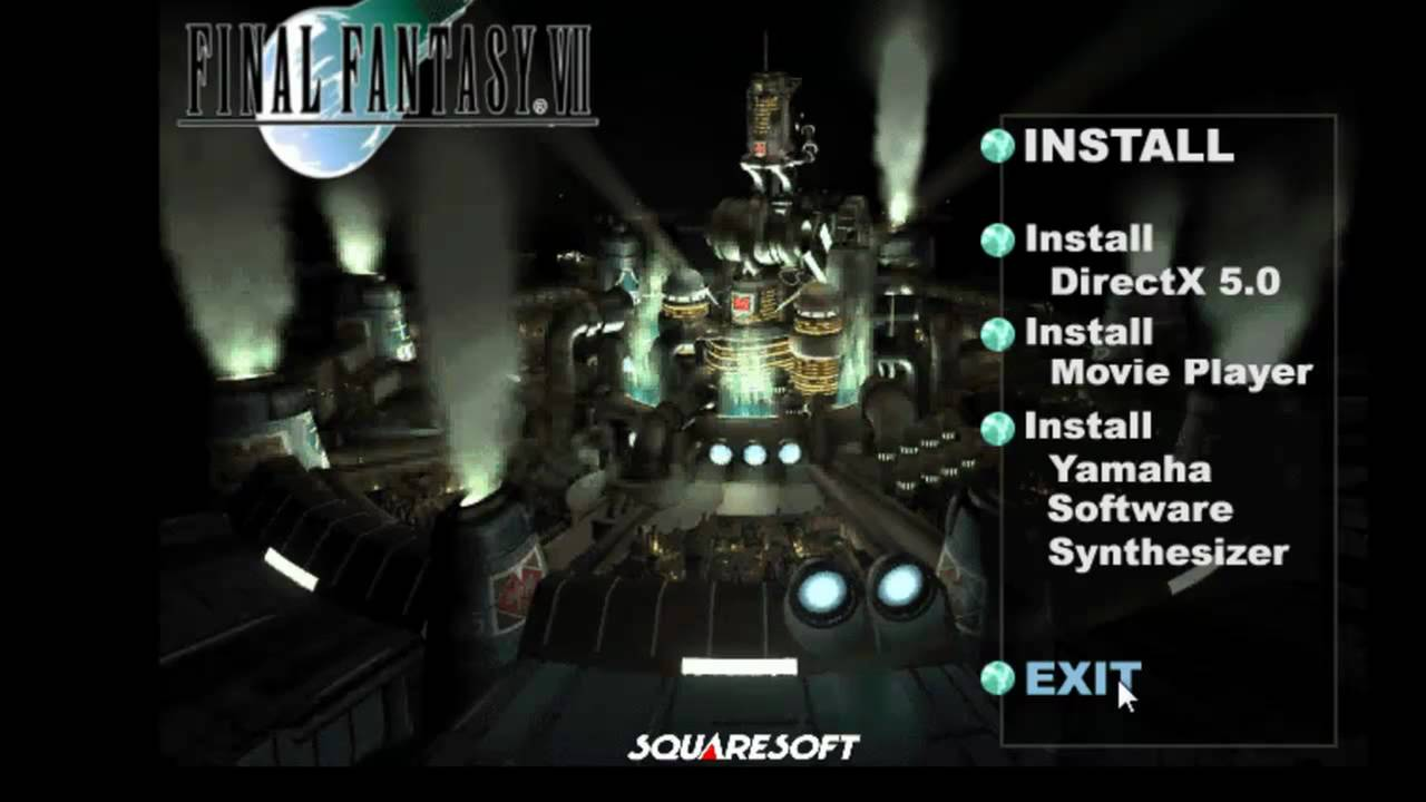 How to Make an ISO file to install & play Final Fantasy 7 PC